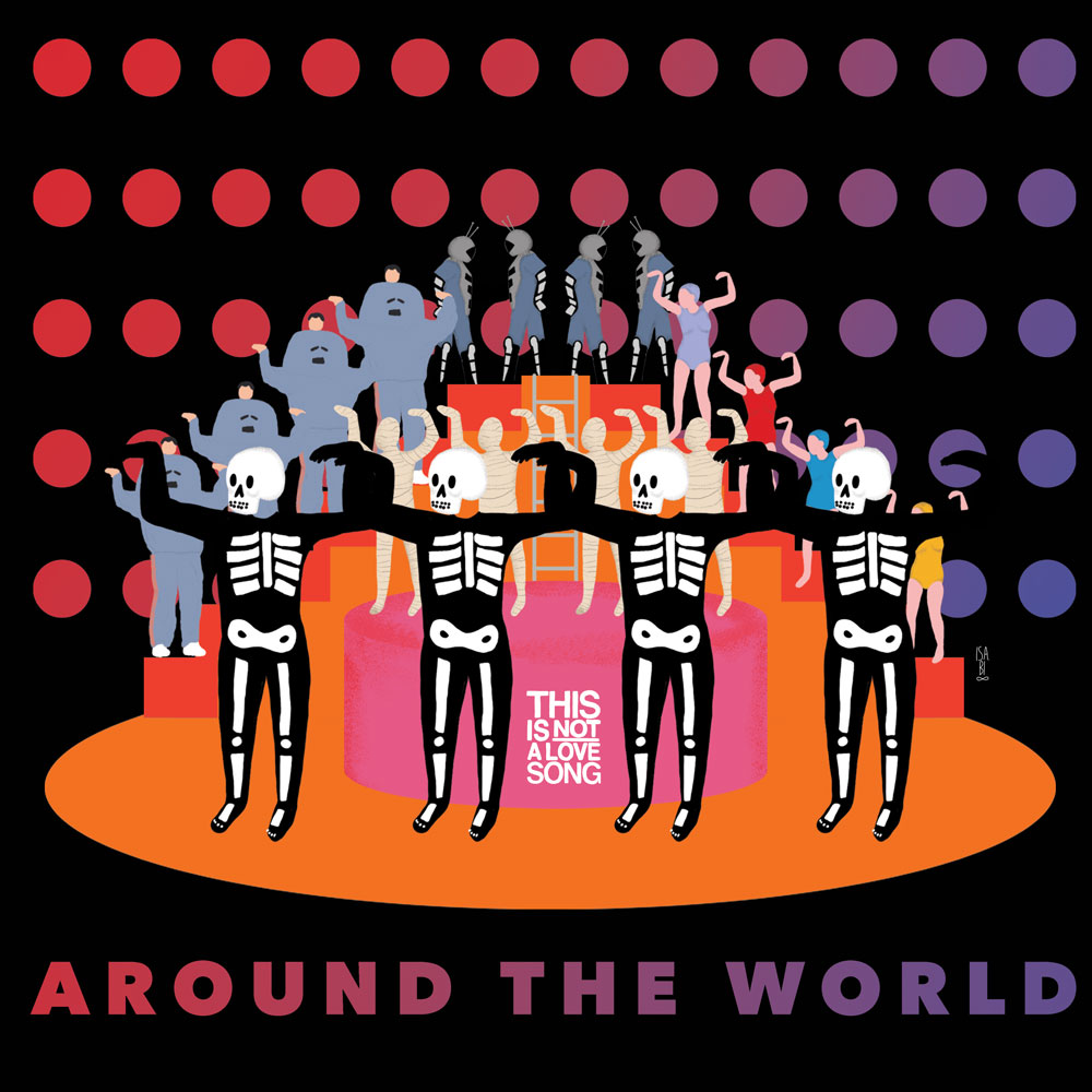 T-shirt - Around the world - Daft Punk - This Is Not A Love Song